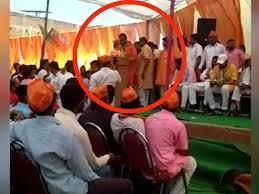 Viral Video Bjp Leader Faces Heat After Raising Ram Hanuman Chowkidar Slogans In Up