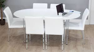 contemporary white round double extending dining set oval extension dining table modern extending nurani org regarding