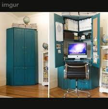 solid walnut hidden home office. Chic Hidden Computer Desk Y Si Se Puede Pinterest Computers Solid Walnut Home Office