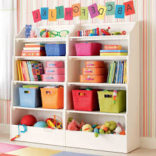 Enchanting Furniture Idea For Kids Room Colorful Wicker Storage Complete  Modern Rustic Opened Cabinet Storage In White Ideal For Toys Storage Choice