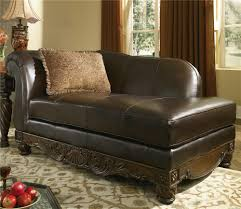 Royal Furniture Living Room Sets Millennium North Shore Dark Brown Upholstered Leather Chaise