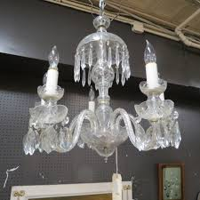 vintage antique cut glass crystal chandelier 299