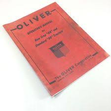 oliver tractor manual oliver 88 tractor owners operators manual standard row crop adjustments