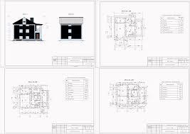 Курсовые и дипломные проекты коттеджи дачи скачать котедж в dwg  Курсовой проект Двухэтажный коттедж 12 х 9 м