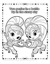 Shimmer And Shine Coloring Pages Online Shimmer And Shine Coloring