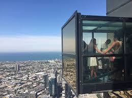 tourists from all over the world come to visit the eureka skydeck in melbourne the