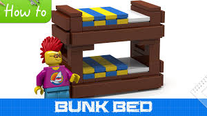 Lego Bedroom Furniture How To Make A Lego Bunk Bed Basic Moc Youtube