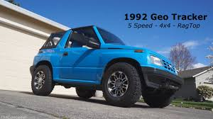 1992 Geo Tracker walk around - 5 speed 4x4 Rag Top - YouTube
