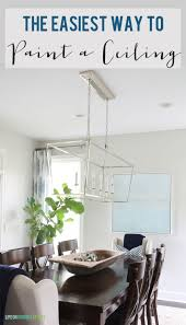 the easiest way to paint a ceiling