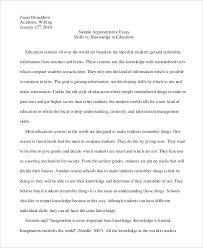examples of argumentative essays argumentative essay sample  examples