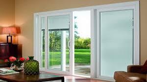 full size of room design white wooden frame the sliding glass door blinds looking elegant