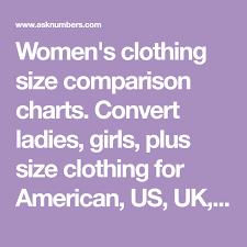 Womens Clothing Size Comparison Charts Convert Ladies