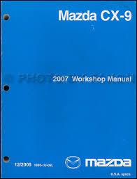 2007 mazda cx 9 wiring diagram manual original 2007 mazda cx 9 repair shop manual original 139 00