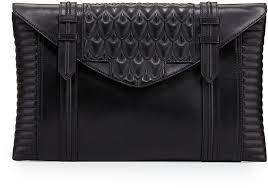 reece hudson bowery oversized leather clutch bag black