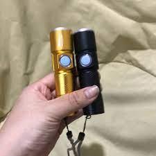 Đèn pin mini cầm tay Zoom đầu sạc USB tích hợp điện chống nước tiện lợi với  3 chế độ sáng - Đèn pin Thương hiệu OEM