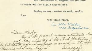 Iowa State Letter Of Recommendation Historic Rejection Letters To Women Engineers The Atlantic