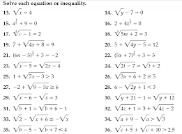 solving radical equations and inequalities rating we will continue working with radicals to solve equations and inequalities