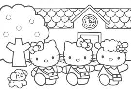 back to school coloring pages for preschool beautiful hello kitty coloring pages for kids bleupnr