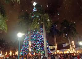 Santa and Christmas Tree Lighting 2012, Delray Beach, FL
