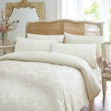 vantona distressed damask duvet cover sets cream