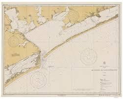 Matagorda Bay And Approaches 1934 Nautical Old Map Reprint Palacios Port Lavaca San Antonio Bay Port Oconnor Texas 80000 Ac Chart 1284