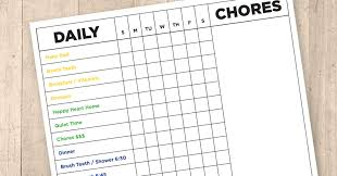 Reward Chart For The Adhd Child Free Printable Editable