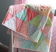 Best 25+ Quilts for kids ideas on Pinterest | Bandana quilt ... & Pretty Triangle Quilt from Cluck Cluck Sew Cute for the receiving blanket  quilts for the kids Adamdwight.com