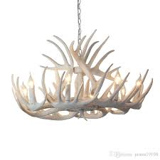 modern white antler chandelier creative branch antler resin led lamps living room dining room chandelier bar lighting g191 decorative pendant lighting blue