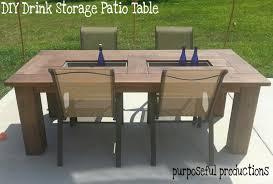 diy wood patio furniture purposeful productions diy table with drink storage diy wood patio furniture o22 furniture