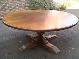 huge 2 metre 6ft diameter antique oak round table large round 6ft diameter oak jacobean revival 17th century design dining to seat up to 10 people