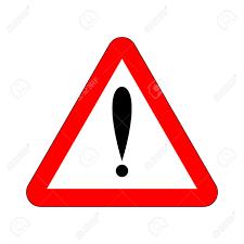 Signe De L'attention En Triangle. Bouton De Danger Icône Attention Rouge Et  Panneau D'avertissement. Vecteur Clip Art Libres De Droits , Vecteurs Et  Illustration. Image 97686947.