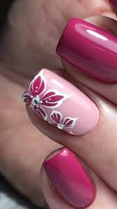Rose Floral Fuschia Nail Enamel Designs Nails V Roce 2019