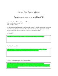 Personal Improvement Plan Template Home A Business Template Easy To Use Performance Improvement