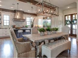 farmhouse dining room light fixtures. Pretty Kitchen And Dining Room With An Open Floor Plan Farmhouse Light Fixtures X