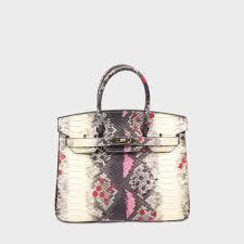 Snakeskin Designer Bags 35cm 30cm 25cm Luxury Bk Padlock Python Snakeskin Women Handbag Famous Brand Designer Totes Shoulder Bags Purse Messenger Genuine Leather