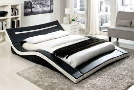 Bedroom Black Platform Bedroom Sets White Platform Bed No Headboard ...