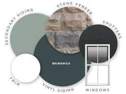 Ply Gem Gutter Color Chart Deep Brunswick Is A Deep Blue Siding Color That Reminds Us