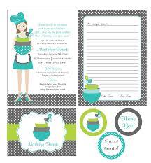Kitchen Shower Printable Kitchen Shower Invitations Bridal Shower Invitations
