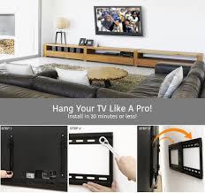 TV <b>Wall Mount</b> Bracket Tilt Low Profile for Most <b>32-70</b> inch LED, LCD ...