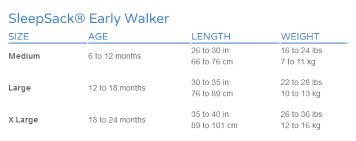 Halo Fleece Sleepsack Size Chart Halo Sleepsack Early Walker Lightweight Blue Gecko Large