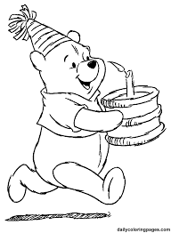 Small Picture Winnie the Pooh Birthday Coloring Pages Birthday ideas