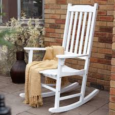 Coral Coast Indoor/Outdoor Mission Slat Rocking Chair - White   Hayneedle