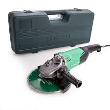 hitachi 9 inch angle grinder. hitachi g23st grinder with diamond blade and carry case 230mm / 9 inch 240v angle n