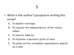"i want a wife"" by judy brady ppt video online  5 what is the author s purpose in writing this essay"