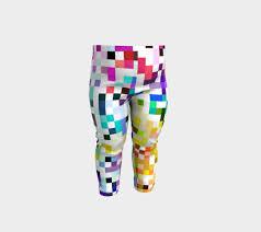 Baby Leggings Pattern Adorable Rainbow Bit Pixel Pattern Baby Leggings Baby Leggings By Jenna