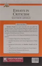 in buy matthew arnold essays in criticism book online at in buy matthew arnold essays in criticism book online at low prices in matthew arnold essays in criticism reviews ratings