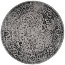 safavieh adirondack grey black 6 ft x 6 ft round area rug