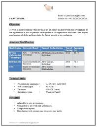 Over 10000 Cv And Resume Samples With Free Download B Tech Fresher