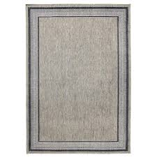 this review is from border gray flat woven weave 7 ft x 11 ft indoor outdoor area rug