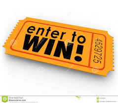 raffle sign enter to win raffle ticket winner lottery jackpot stock illustration